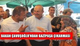 Bakan Çavuşoğlu'ndan Gazipaşa çıkarması