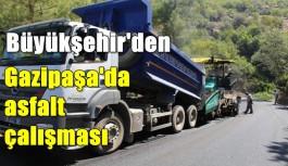 Gazipaşa'da asfalt çalışması