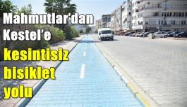 Mahmutlar'dan Kestel'e kesintisiz bisiklet yolu