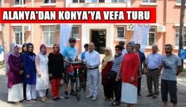 Alanya'dan Konya'ya Sultan Alaaddin'e bisikletle vefa turu