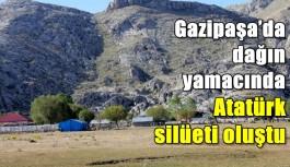 Gazipaşa'da dağın yamacında Atatürk silüeti oluştu