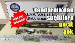 Jandarma'dan suçlulara geçit yok