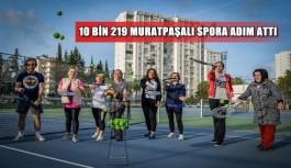10 bin 219 Muratpaşalı spora adım attı