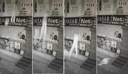 Fuhuş pazarlığı yaptığı öne sürülen gencin balkondan düşme anı kamerada