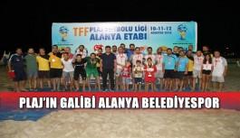 Plaj'ın galibi Alanya Belediyespor