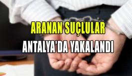 Antalya'da aranan 2 zanlı yakalandı