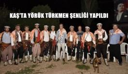 Kaş'ta Yörük Türkmen Şenliği yapıldı