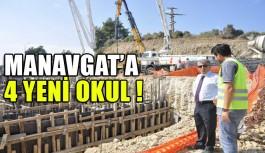 Manavgat'a 4 yeni okul inşaat