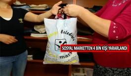 Sosyal Market'ten 4 bin kişi yararlandı