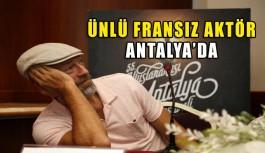 Ünlü aktör Antalya'da
