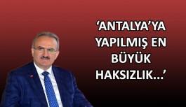 Vali Karaloğlu: Antalya'yı güneş, kum ve denize sıkıştırmak haksızlık