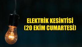 20 Ekim Cumartesi Planlı Elektrik kesintisi