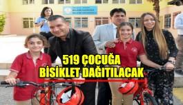 519 çocuğa bisiklet dağıtılacak