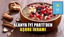 Alanya İYİ Parti'den aşure ikramı