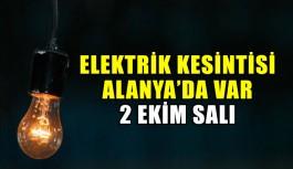 Elektrik kesintisi! 2 Ekim Salı