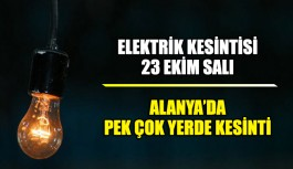 Elektrik kesintisi, Alanya'da pek çok yerde elektrik kesintisi