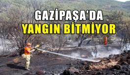 Gazipaşa'da yangınlar bitmek bilmiyor