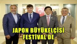 Japon büyükelçisi festival'de
