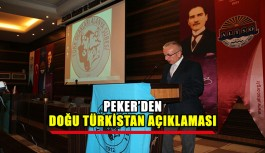 Peker'den Doğu Türkistan açıklaması