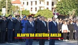Alanya'da Atatürk anıldı