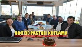 AGC'de pastalı kutlama