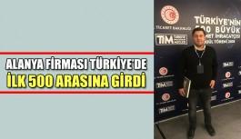 Alanya firması Türkiye'de İlk 500 arasına girdi