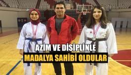 Azim ve disiplinle madalya sahibi oldular