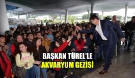 Başkan Türel'le akvaryum gezisi