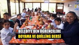 Belediye'den Öğrencilere Boyama ve Quilling dersi