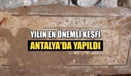 Yılın en önemli keşfi Antalya'da...
