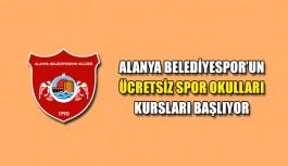 Alanya Belediyespor'un ücretsiz spor okulları kursları başlıyor