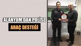 Alanyum'dan polise araç desteği