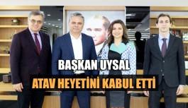 Başkan Uysal, ATAV heyetini kabul etti