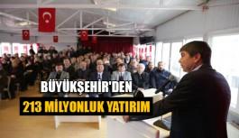 Büyükşehir'den Korkuteli'ne 213 milyonluk yatırım