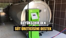 Büyükşehir'den süt üreticisine destek