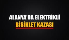 Alanya'da elektrikli bisiklet kazası