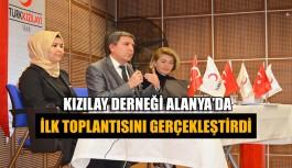 Alanya'da Kızılay Derneği ilk toplantısını gerçekleştirdi