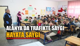 """Alanya'da """"Trafikte saygı, Hayata saygı"""""""