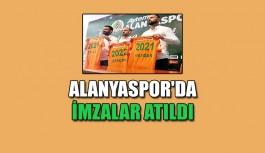 Alanyaspor'da imzalar atıldı