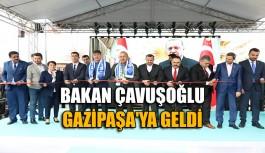 Bakan Çavuşoğlu Gazipaşa'ya geldi