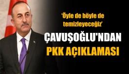Bakan Çavuşoğlu'ndan PKK açıklaması