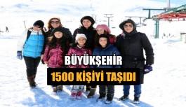 Büyükşehir 1500 kişiyi taşıdı