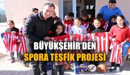 Büyükşehir'den spora teşfik projesi