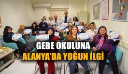 Gebe okuluna Alanya'da yoğun ilgi