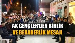 AK Gençler'den birlik beraberlik mesajı