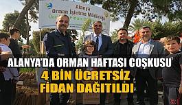 Alanya'da Orman Haftası'na özel ücretsiz fidan dağıtıldı