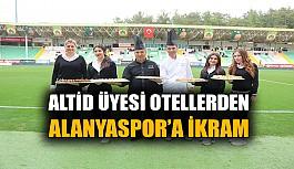 ALTİD üyesi otellerden Alanyaspor'a ikram