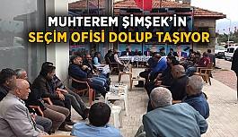 Muhterem Şimşek'in seçim ofisi dolup taşıyor
