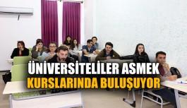 Üniversiteliler ASMEK kurslarında buluşuyor
