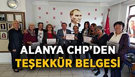Alanya CHP teşekkür belgesi dağıttı